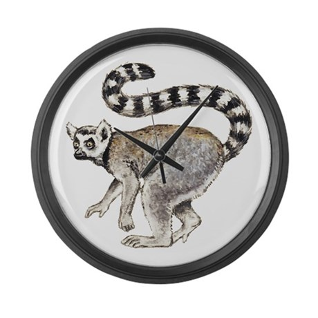 Ring-tailed Lemur Large Wall Clock