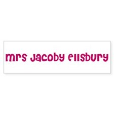 Mrs Jacoby Ellsbury Bumper Bumper Sticker