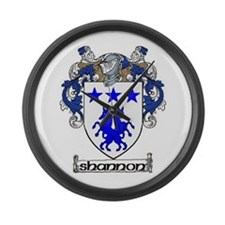 Shannon Coat of Arms Large Wall Clock