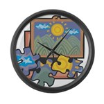 Jigsaw Puzzle Large Wall Clock