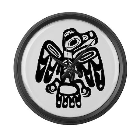 Tribal Eagle Large Wall Clock