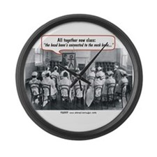 All Together Now Nurses Large Wall Clock