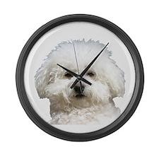 Fifi the Bichon Frise Large Wall Clock