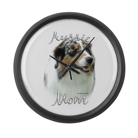 Aussie Mom2 Large Wall Clock
