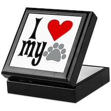 love Hemingway cat Keepsake Box