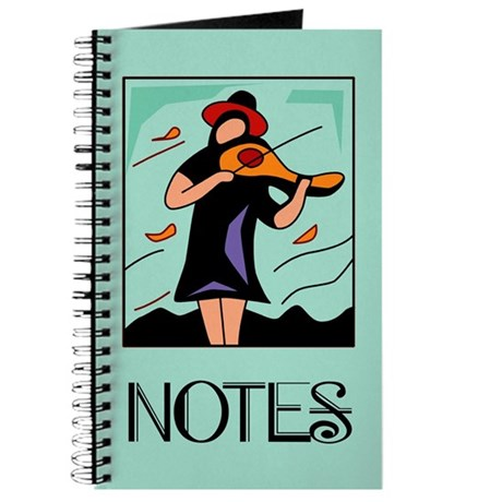 Lovely Violin Music Practice Notebook