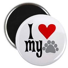 love Hemingway cat Magnet