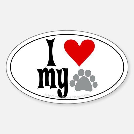 love Hemingway cat Oval Decal