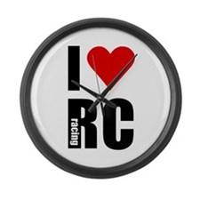 I love RC racing Large Wall Clock