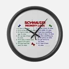 Schnauzer Property Laws 2 Large Wall Clock