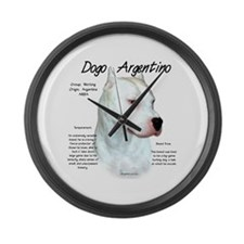 Dogo Argentino Large Wall Clock