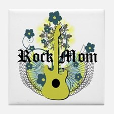 Rock Mom Tile Coaster