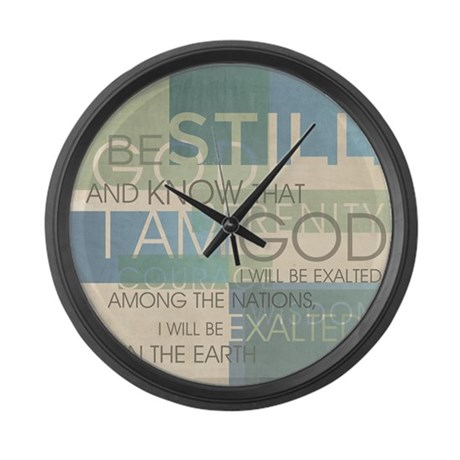 Psalm Scripture Collage Produ Large Wall Clock