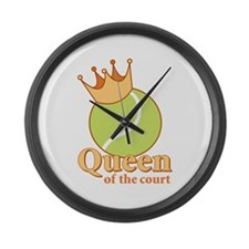 """Queen of the Court"" Wall Clock"