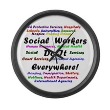 Social Workers are Everywhere Large Wall Clock