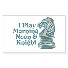 Chess Knight Rectangle Decal