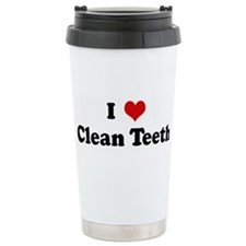 I Love Clean Teeth Travel Mug