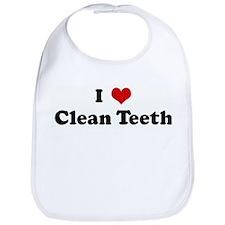 I Love Clean Teeth Bib
