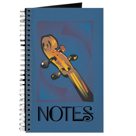 Blue Violin Notes Music Practice Book