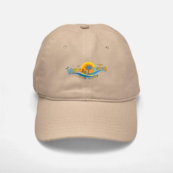 Myrtle Beach SC - Waves Design Baseball Baseball Cap
