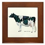 Holstein Cow Framed Tile
