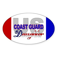 US Coast Guard Daughter Oval Decal