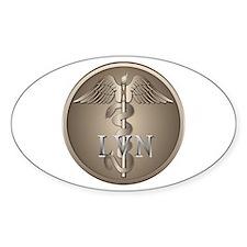 LVN Caduceus Oval Decal