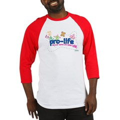 Pro-Life Flowers & Butterfly Baseball Jersey