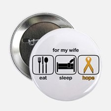 """Wife ESHope Leukemia 2.25"""" Button"""
