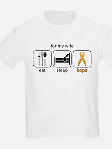 Wife ESHope Leukemia T-Shirt