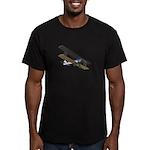 Biplane Men's Fitted T-Shirt (dark)