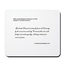 Baptist Confession Mousepad