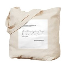Baptist Confession Tote Bag