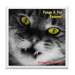 Vampire Cat Tile Coaster