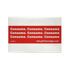 Consume Rectangle Magnet