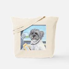 Driving Riley - Shih Tzu Tote Bag