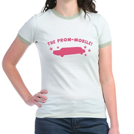 Pink Prom-Mobile Jr. Ringer T-Shirt