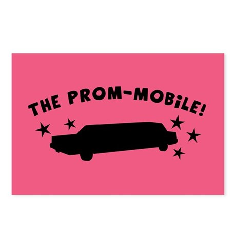 Pink Prom-Mobile Postcards (Package of 8)