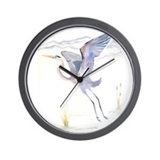 Katrina's Cards Great Blue Heron Wall Clock