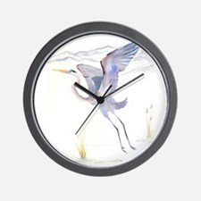 Katrina's Cards Great Blue Heron Wall Clock
