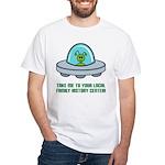 Alien Genealogist White T-Shirt