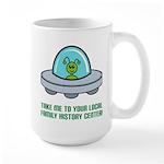 Alien Genealogist Large Mug