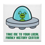 Alien Genealogist Tile Coaster