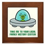 Alien Genealogist Framed Tile