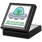 Alien Genealogist Keepsake Box