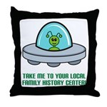 Alien Genealogist Throw Pillow