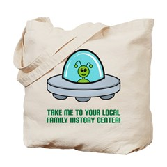Alien Genealogist Tote Bag