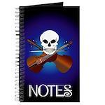Funny Violin Cross Bones Music Journal