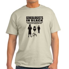 Genealogists In Black T-Shirt