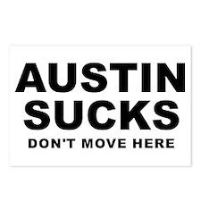 Austin Sucks Postcards (Package of 8)